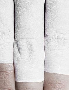 #white #paint #fingers