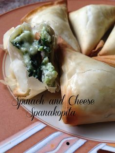 Spinach and Cheese Triangles {Spanakopita}
