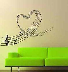 Notas de música en sala o en recámara