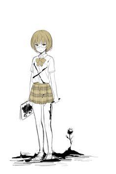 Flowers of Evil - Sawa The Flowers Of Evil, Good Manga, My Crush, Hana, Creepy, Anime Art, Crushes, Fan Art, Nice