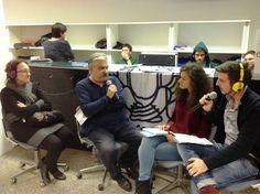 Radio eco, la radio degli studenti dell'Università di Pisa. In foto i conduttori Alba Modugno e Alessio Foderi.