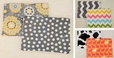 """These large boutique quality burp cloths are made with designerfabric and is backed with white terry cloth. These burp cloths are larger and much more absorbent than burp cloths purchased in department stores. They are GREAT for wiping up the many messes that baby can make.Each burp cloth measures approx. 11"""" x 16"""" and is top stitched for extra durability.Burp Cloths have not been prewashed due to potential allergies.Care Instructions:Machine wash, tumble dry low temps, and iron on cotton…"""
