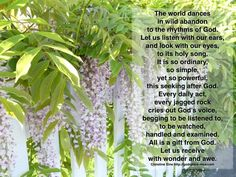 Meditation Monday - Let Us Receive with Wonder and Awe