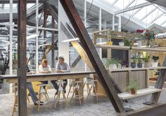 The amazing new Green Peace office is a converted old warehouse made into a new an innovative workspace.
