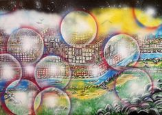 Spray e olio su tela 2013