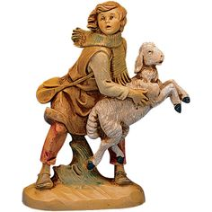 Fontanini Aaron the Shepherd Holding a Sheep Italian Nativity Village Figurine Christmas Nativity Scene, Nativity Sets, Christmas Crafts, Fontanini Nativity, Italian Village, Catholic Gifts, The Shepherd, Collectible Figurines, Sheep