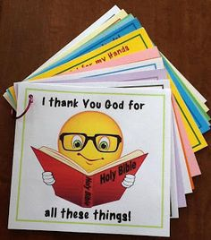 Thankful book -- such a cute book to do with young kids.  This activity can be spanned for days; link in with Thanksgiving.