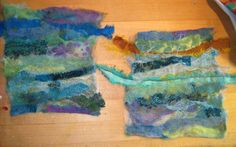 Needle-felting Tutorial. Using all kinds of materials AND a machine felting needle (??) Very interesting - I had never seen this done before