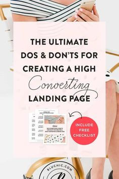 The Ultimate Dos & Don'ts Checklist For Creating a High Converting Landing Page | Have no clue how to create a high converting landing page? Check out this blog post and checklist from Bluchic sharing all the do's and don'ts of a high converting landing page! #websitedesign #wordpress #website