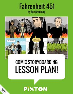 Your students will love writing about DYSTOPIAN FICTION with Pixton comics and storyboards! This FREE lesson plan features a Teacher Guide, themed characters and props. PLUS 3 awesome activities with interactive rubrics, student examples and printable handouts.
