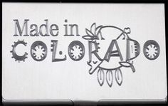 Made In Colorado Engraved Business Credit Card Case Patch Holder Gift BUS-0219