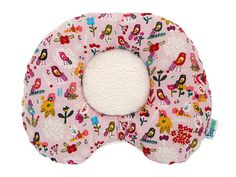 Morning Glory - GOTS Organic Cotton Ergonomic Baby Support Pillow, prevent or correct flat head syndrome, plagiocephaly, torticollis (by LazyLambert)