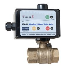 WV-01 Wireless Z-Wave Water Valve.   It'd be really awesome if it were a flow meter too.