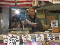 Fish market, Seattle, WA