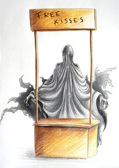 Pin for Later: Harry Potter Characters Are Reimagined in AMAZING Fan Art Dementor's Kiss