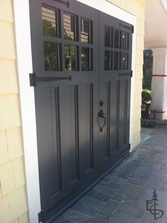 Gallery - Images of Custom hand crafted swing out carriage house garage doors