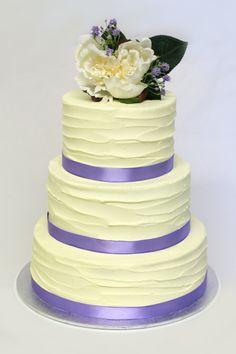 Wedding Cake Icing Rough Ribbon Technique