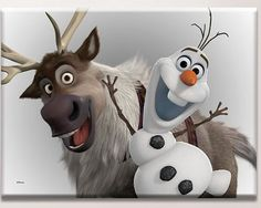 Disney Frozen Olaf and Sven Large Canvas Art http://www.childrens-rooms.co.uk/disney-frozen-olaf-and-sven-large-canvas-art.html #olaf #sven #disneyfrozen #canvasart