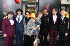"""Jeremy Ray Taylor Photos - Actors Jeremy Ray Taylor, Finn Wolfhard, Jack Dylan Grazer, Sophia Lillis, Chosen Jacobs, Wyatt Oleff and Jaeden Lieberher attend the premiere of Warner Bros. Pictures and New Line Cinema's """"It"""" at the TCL Chinese Theatre on September 5, 2017 in Hollywood, California. - Premiere of Warner Bros. Pictures and New Line Cinema's 'It' - Arrivals"""