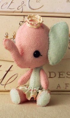 Elephant plush toy pattern