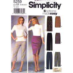 Womens Slim Pants & Skirts Pattern by finickypatternshop on Etsy, $7.75