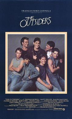 The Outsiders. The Movie, the book 2. Hollywood's biggest stars began here. Phenomenal #Movies.