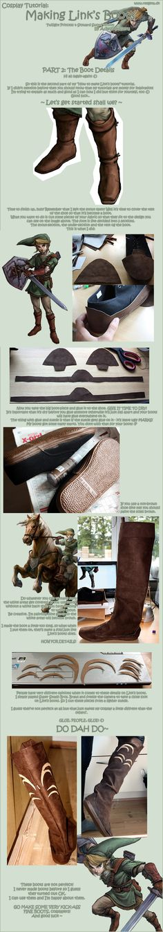 Tutorial: Link's Boots --this would actually make a good template for my mercenary boots as well!