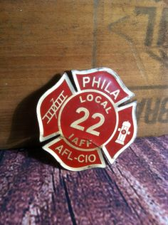Fireman's Badge Vintage Fire House by SeansFindsAndDesigns on Etsy, $10.50