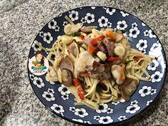Pasta Sambal Matah – Cooking with Sheila Main Menu, Pasta Recipes, Spaghetti, Meat, Chicken, Cooking, Ethnic Recipes, Food, Kitchen