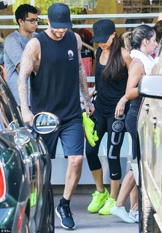 The Beckhams enjoy family SoulCycle session as Victoria shows off her fading wrist tattoos | Daily Mail Online