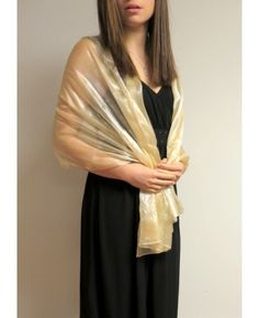 Buy organza silk shiny crystal shawls product  54777 so elegant and beautiful for formal occasions and events.