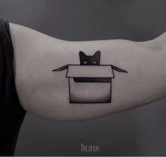 Ilya Brezinski cat tattoo