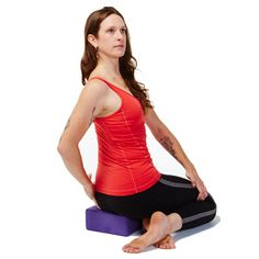 Improve digestion and alleviate back pain with this seated twist.