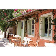 Beautiful pastel colored houses in Fiskardo, Kefalonia Island, Greece Beautiful Islands, My Dream Home, Jewel, Greece, Scenery, Sweet Home, Pastel, Houses, Places