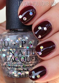 OPI I Snow You Love Me (over Visions of Love) Adore! #Nails #NailArt #Holiday #Manicure