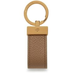 Mulberry Mens Loop Keyring ($93) ❤ liked on Polyvore featuring men's fashion, men's accessories, men's key rings, dark beige, mens key ring and mens leather accessories