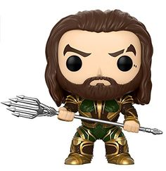 Funko POP! Movies: DC Justice League - Aquaman Toy Figure - From DC, Justice League - Aquaman, as a stylized POP vinyl from Funko! Figure stands 3 3/4 inches and comes in a window display box. Check out the other DC figures from Funko! Collect them all!.
