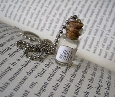 Holy Water 1ml Glass Bottle Necklace Charm Cork Vial Pendant