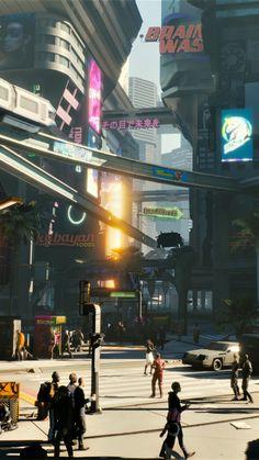 Modern city, Cyberpunk 2077, 2018, 720x1280 wallpaper