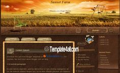 template4all.com Awesome Free Autumn Lead Brown #Blogger Template Design to Download