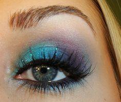 Amazing eye makeup.