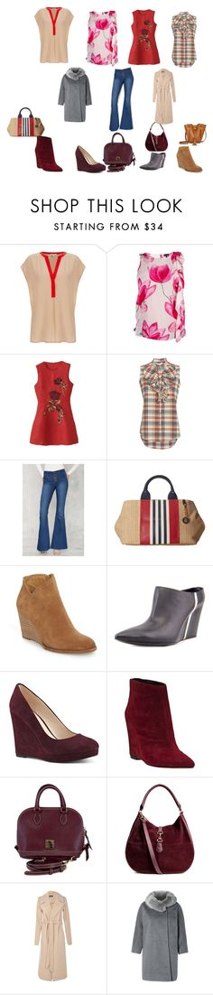 """""""Untitled #164"""" by hind-nayel ❤ liked on Polyvore featuring Joie, Armani Jeans, WithChic, NSF, Pistola, Tommy Hilfiger, Lucky Brand, COSTUME NATIONAL, Nine West and Dolce Vita"""