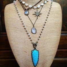 More Combinations - Moonstone and Diamonds!! #cindyensordesigns #jewelry…