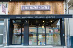 Boulangerie de JOSEPH à Rennes - Architecture par l'agence LABEL ETUDES Liquor Cabinet, Joseph, Architecture, Home Decor, Rennes, Bakery Business, Arquitetura, Decoration Home, Room Decor