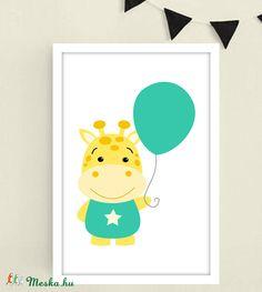 Zsiráfos keretezett falikép / babaszoba dekoráció 20x30 cm-es méretben leírása (MesesGyerekszoba) - Meska.hu Tweety, Baby, Character, Baby Humor, Infant, Babies, Lettering, Babys