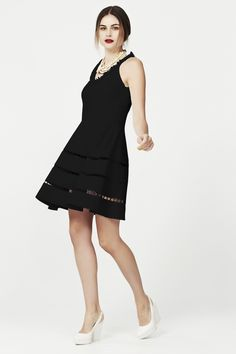 HOLE-HEARTED DRESS - CROCODILE TIERS COOPER SUMMER 15 : Cooper-Dresses : Trelise Cooper Online Modern Fashion, Style Icons, Glamour, How To Make, Hair, Inspiration, Shopping, Black, Dresses