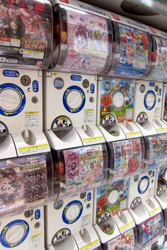 """Gashapon are a """"coin for a toy"""" vending machine that are better quality than what we get here. You can get almost anything too; like mini folding chairs."""