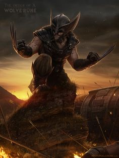 Wolverine Medieval (The Order of X by Nate Hallinan, via Behance)