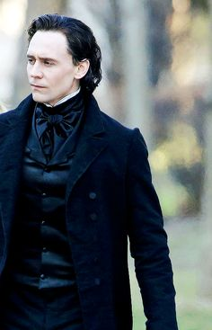 On the set of Crimson Peak awesome outfit.