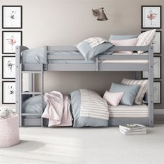 Bunk Bed for Kids Ideas - One of the main reasons why you want to have some bunk bed for kids ideas is because you want to make the room more spacious. Bunk beds are the perfect solution for your kids' bedroom who only has limited space. Bunk Beds For Girls Room, Bunk Bed Rooms, Twin Bunk Beds, Kid Beds, Girls Bedroom, Bedroom Decor, Bunk Bed Decor, Small Bunk Beds, Shared Rooms